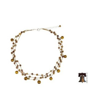 NOVICA Cultured Freshwater Stainless Necklace in Women's Choker Necklaces