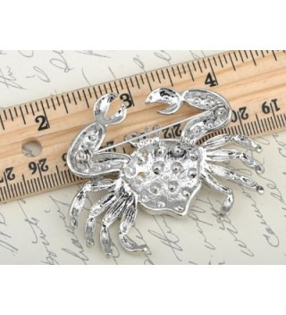 Alilang Crystal Rhinestone Pinchers Fashion in Women's Brooches & Pins