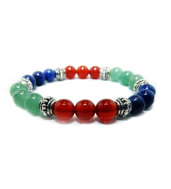 WEIGHT LOSS 8mm Crystal Gemstone Intention Bracelet - Aventurine- Carnelian- Sodalite - CD12ML51EA7