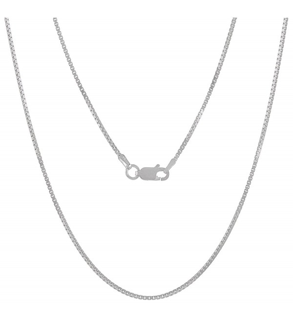 "0.7mm - 4.5mm .925 Sterling Silver Italian Crafted Box Link Chain Necklace - 16""18""20""24""30""36"" - C312NZO87O4"
