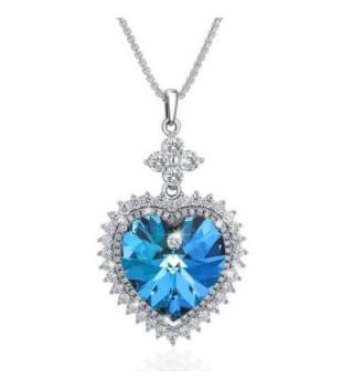 SIVERY Valentine Necklace Swarovski Crystals - CZ12J3LZ8N7