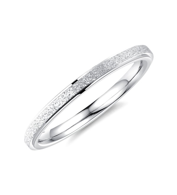 LOHOME Fashion Rings Birthday Finger - stainless-steel(silver tone) - C5186XZQTY4