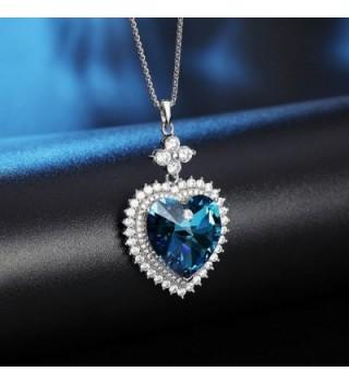 SIVERY Valentine Necklace Swarovski Crystals in Women's Pendants