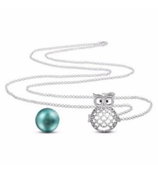 EUDORA Serenity Pregnancy Necklace Seagreen