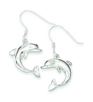 Sterling Silver Dolphin Earrings - CH11573246Z