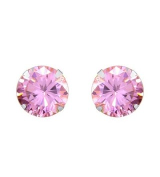 Solid White Simulated Tourmaline Earrings