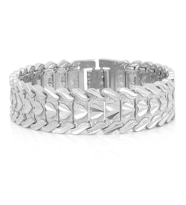 Bracelet Romantic Jewelry Platinum Wristband - Platinum - CR11VDRNTP9