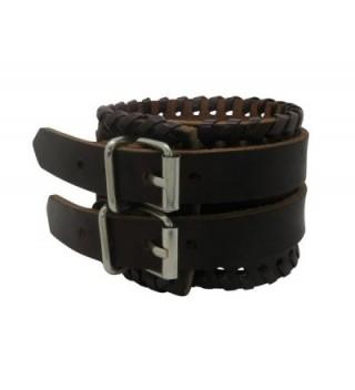 Brown Leather Buckle Adjustable Bracelet