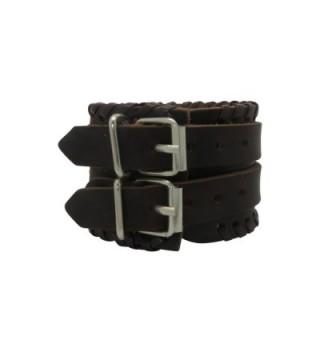 Brown Leather Buckle Adjustable Bracelet in Women's Cuff Bracelets