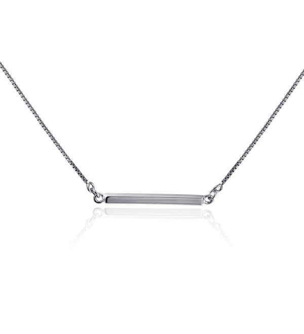 "CIShop Minimalist ""Balance"" Sterling Silver Cubic Zirconia Ball Bar Pendant Necklace for Women - Bar - CA182E8C0EY"