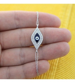 Sterling Silver Rhodium Zirconia Bracelet