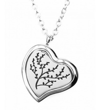 FIKA Romantic Heart Aromatherapy Essential Oils Necklace Pendant Air Freshener Locket Pads included - CO12BTE1DNP