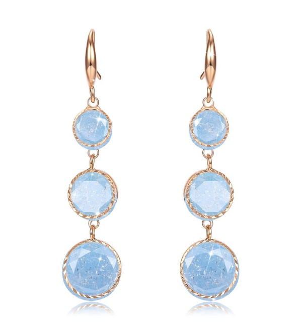 ??Valentines Gift?? Incaton Round Extended Dangle Crystal Earrings Jewelry Gifts for Women - light blue - CJ185DUOWLN