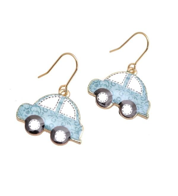 Spinningdaisy Folk Art Colorful Beetle Car earrings - CS11Q9EUQVV