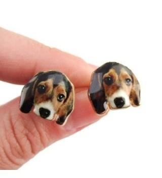 Daisies Beagle Portrait Earrings Jewelry
