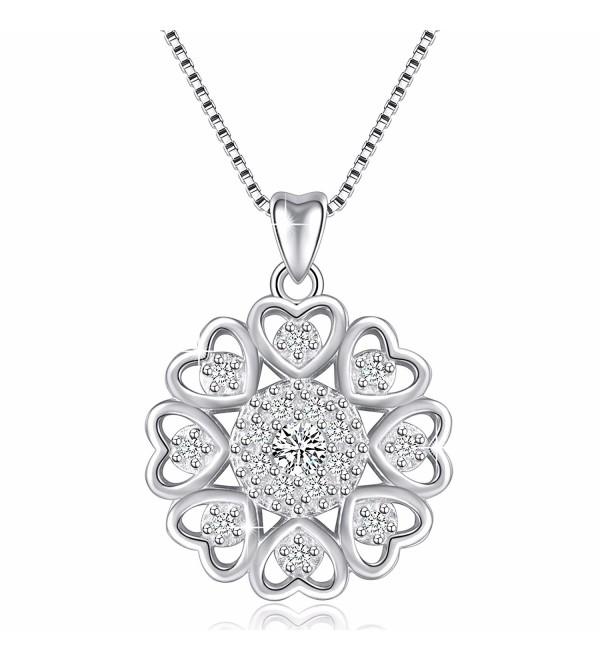 "925 Sterling Silver Vintage Pendant Necklace- Box Chain 18"" - SILVER - CS1827TUTZW"