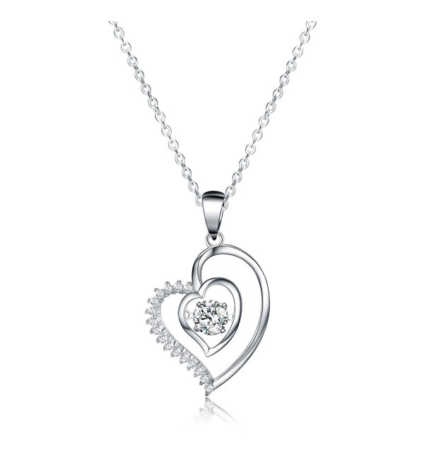 "Jewelry Pendant Necklace- Sable ""Ripple of Hearts"" - Best Idea Gifts for Girls & Women - C41822C0HZ9"