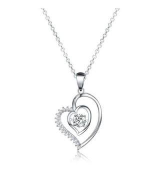 """Jewelry Pendant Necklace- Sable """"Ripple of Hearts"""" - Best Idea Gifts for Girls & Women - C41822C0HZ9"""
