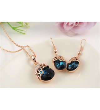 O4U Austrian Crystals Necklace Earrings