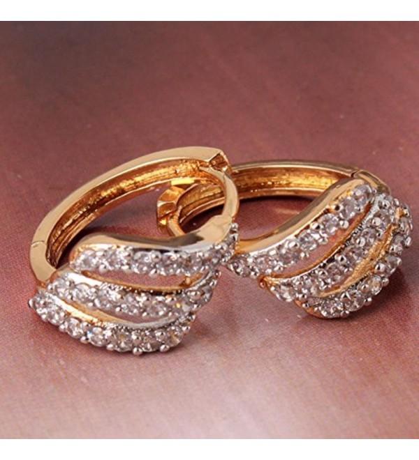 CS-DB 18k Gold Platinum filled Earrings White Swarovski Crystal Stunning Earring - CP120K6CTSL