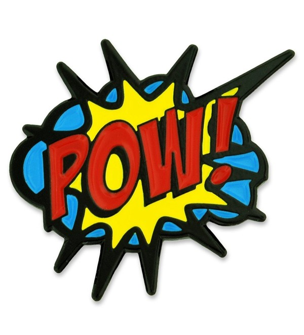 PinMart's POW! Comic Book Art Enamel Lapel Pin - CW12O5LDDEN