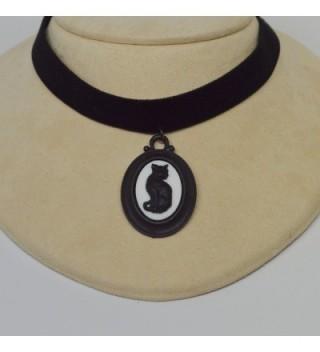 Black Velvet Choker Gothic Adjustable in Women's Choker Necklaces