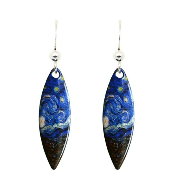 d'ears Starry Night Earrings by Vincent Van Gogh 1090 - C4126RCN1X9