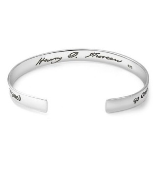 Sterling Confidently Direction Inspiration Bracelet in Women's Cuff Bracelets