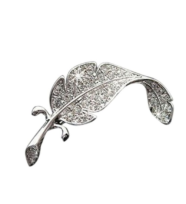 Welcomeuni New Retro Vintage Cute Beautiful Feather Leaf Mini Cute Brooch Pin - CN128FBDRVV