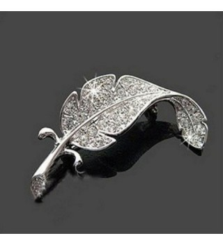 Welcomeuni Vintage Beautiful Feather Brooch in Women's Brooches & Pins