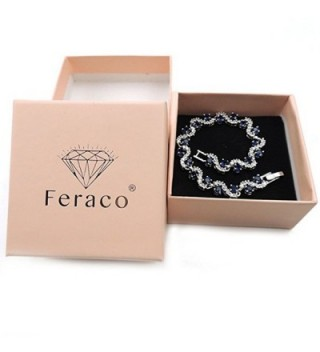 Feraco Bracelet Zirconia Crystal Wedding in Women's Tennis Bracelets