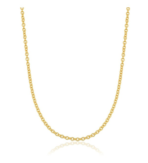 14k Yellow Gold Filled 1.1mm Open Cable Chain (16- 18- 20- 22- 24 or 30 inch) - CO1184JGW8P