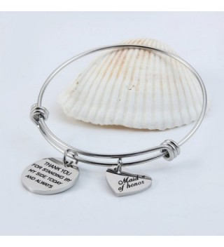 Jewelady Bracelet Stainless Expandable Bridesmaid in Women's Charms & Charm Bracelets