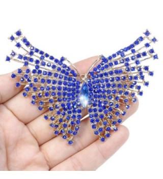 EVER FAITH Austrian Butterfly Gold Tone