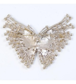 EVER FAITH Austrian Butterfly Gold Tone in Women's Brooches & Pins
