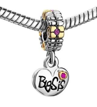 Heart Charms Sister Crystal Bracelet