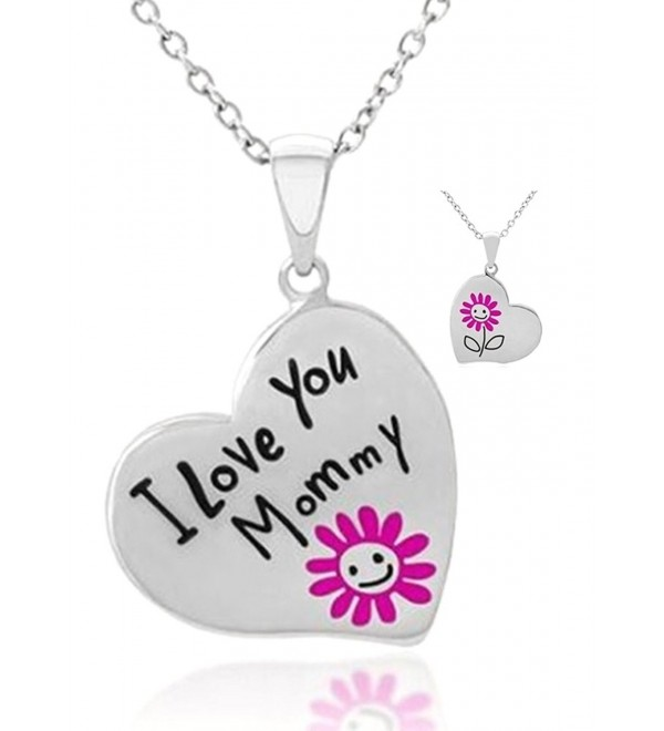 Engraved Flower Pendant Necklace Daughter - CB12IFH36VB
