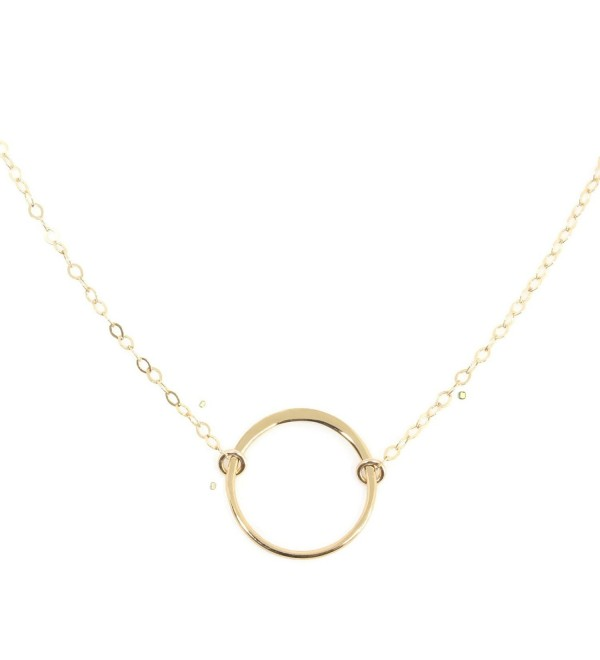 Karma Open Circle Necklace- Dainty 14k Gold Filled- Won't Fade- by Wild Moonstone - C4186CMIQK3