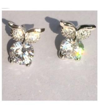 plated Zirconia crystal dimond earrings