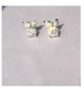 plated Zirconia crystal dimond earrings in Women's Stud Earrings
