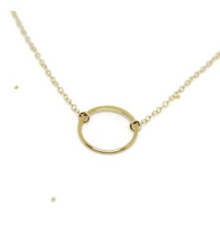 Circle Necklace Dainty Wild Moonstone in Women's Chain Necklaces