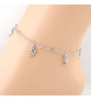 SusenstoneHeart shaped Dolphins Anklet Bracelet Jewelry in Women's Anklets