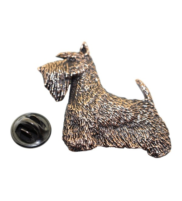 Scotty or Scottish Terrier Pin ~ Antiqued Copper ~ Lapel Pin ~ Sarah's Treats & Treasures - CV12DUBAUSN