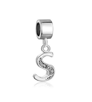 Q&Locket A-Z Alphabet Letter Charms Initial Dangle Bead For Bracelet - C217XWNM0TH