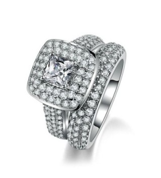 FENDINA Engagement Wedding Solitaire Eternity - CI17YD4E7R9