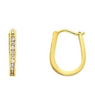 14k Gold Plated Brass 2mm Channel-set Hoop Huggy Earrings - CC11DGTAXEL