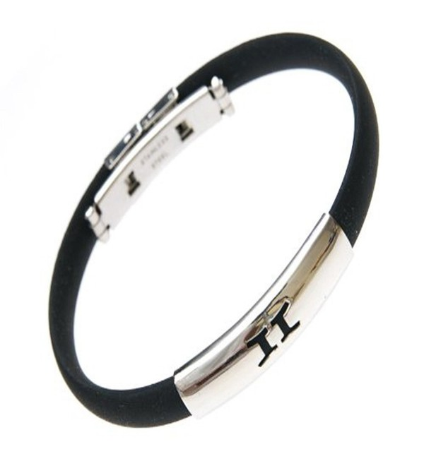 Stainless Steel Zodiac Signs Gemini Bracelet Black Silicon Band Jelly Bracelet - CM116JEPCFV