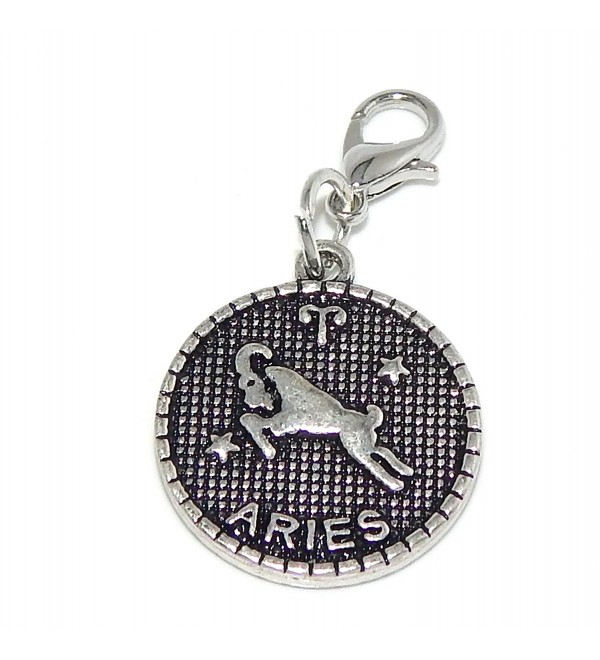 "Pro Jewelry Dangling ""Astrology or Zodiac Sign"" Clip-on Bead for Chain Link Charm Bracelets - C711PWBARNX"