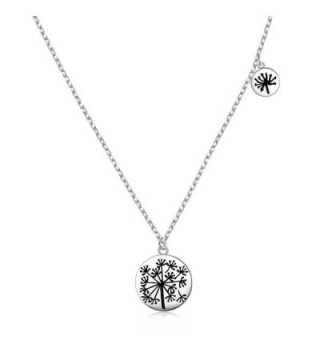 """925 Sterling Silver Mother and Child Infinity Love Dandelion / Birds Charm Necklace for Women Girls-18"""" - CS186NYD49S"""