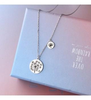 Mother Daughters Sterling Dandelion Necklace in Women's Pendants